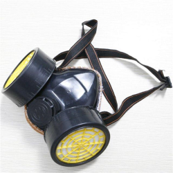 Double cartridge respirator mask
